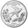 Commemorative state quarter of Oklahoma.