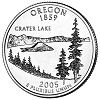 Commemorative state quarter of Oregon.