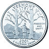 Commemorative state quarter of Vermont.