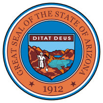 Official Arizona state seal.