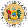 Image of the Delaware state seal.