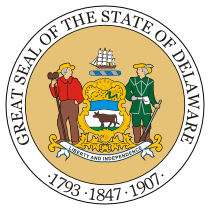 Official Delaware state seal.
