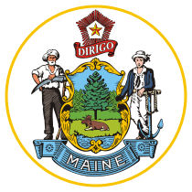 Official Maine state seal.