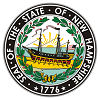 Official State Seal of New Hampshire.