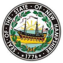 Official New Hampshire state seal.