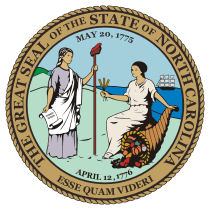 Official North Carolina state seal.