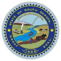 Official South Dakota state seal.