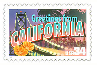 34 cent California state stamp.