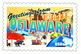 Official Delaware state stamp.