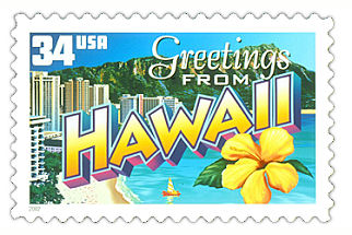 Official Hawaii State Stamp