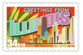Official Illinois state stamp.