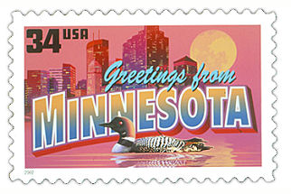 the minnesota state postage stamp depicted above is the minnesota