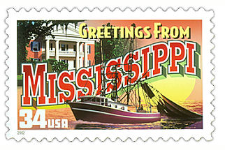 Official Mississippi state stamp.