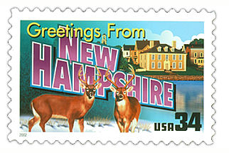 Official New Hampshire state stamp.