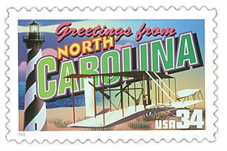 Official North Carolina state stamp.