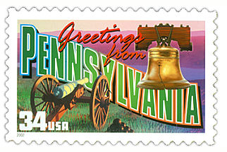Official Pennsylvania state stamp.