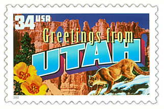 Official Utah state stamp.