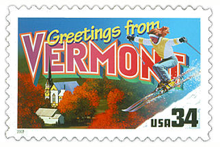 Official Vermont state stamp.