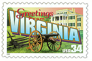 Official Virginia state stamp.