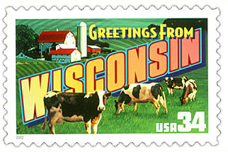 Official Wisconsin State Stamp